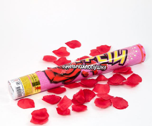 Пневмохлопушка лепестки роз купить шерстяную тонкую ткань